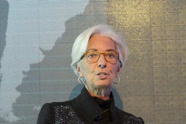 Christine Lagardeová, šéfka Medzinárodného menového fondu.