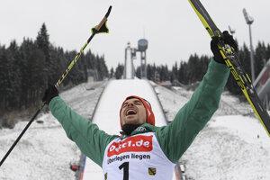 Fabian Riessle sa raduje z víťazstva.