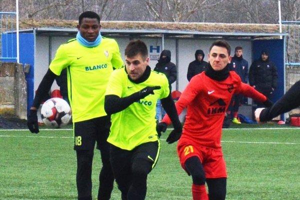 Bankole Adekuoroye aMartin Mečiar, strelci prvých dvoch jarných gólov Serede.