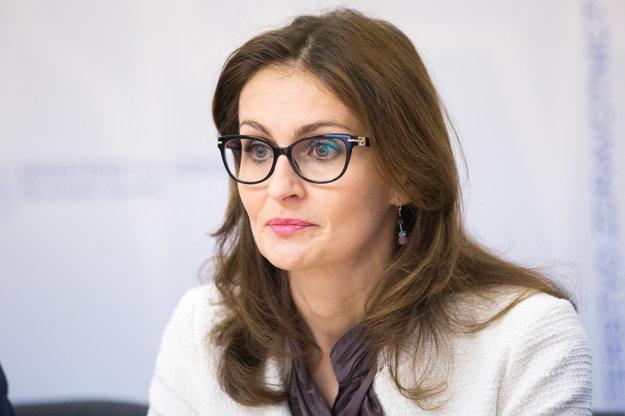 Štátna tajomníčka Ministerstva zdravotníctva Andrea Kalavská.