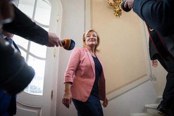 Ľubica Laššáková odpovedala aj na otázky novinárov.
