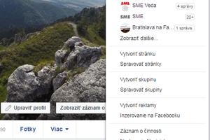 Predvoľby súkromia nájdete v položke Nastavenia, ktorá sa zobrazí po kliknutí na ikonu šípky vpravo hore.