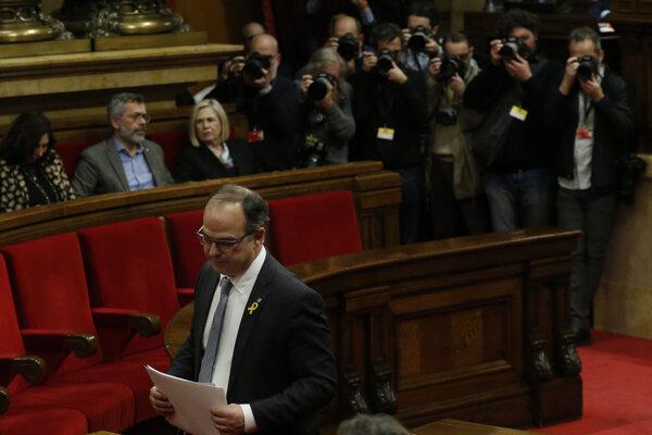 Jordi Turull v katalánskom parlamente.