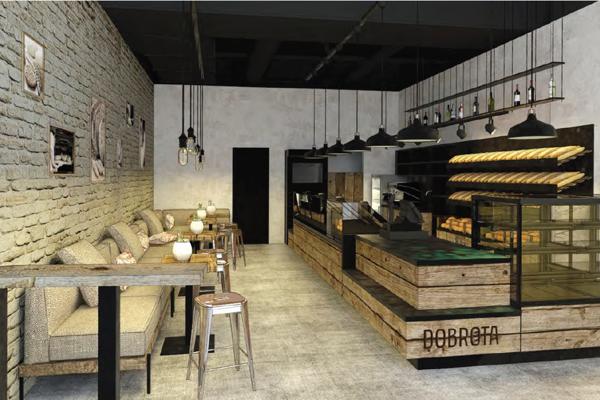 Interiér pekárne a kaviarne Dobrota.