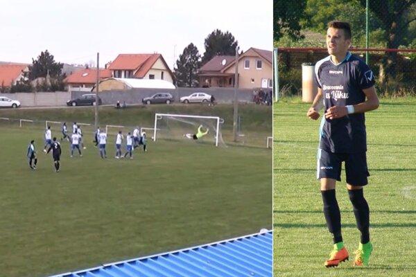 Martin Mikula prispel dvoma gólmi k výhre Zbehov vo Veľkom Záluží.