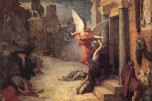 Obraz Mor v Ríme od francúzskeho maliara Julesa Elie Delaunaya z roku 1869.