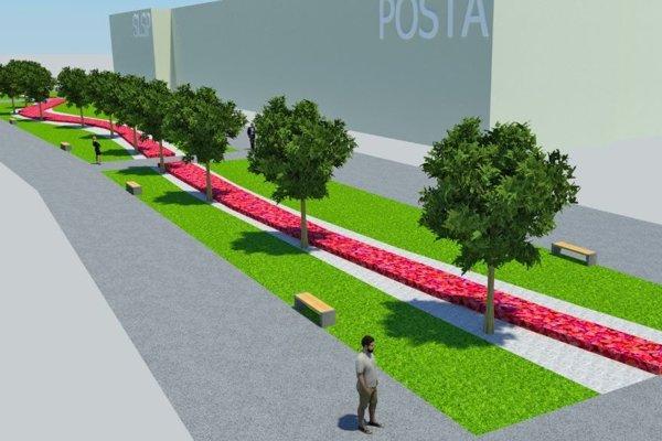 Projekt novej zelene v centre.