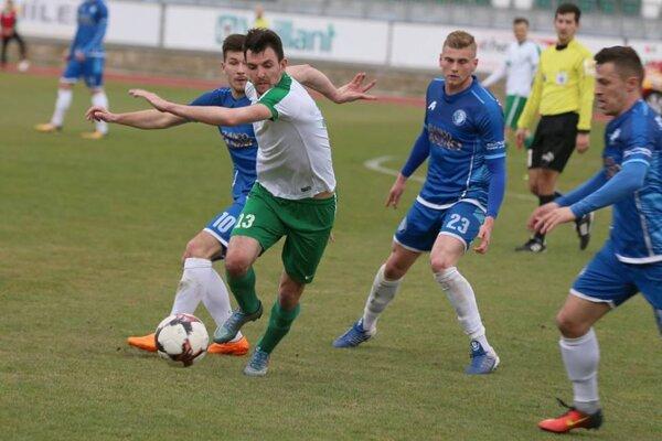 Momentka zo zápasu Skalica - Lokomotíva Košice.