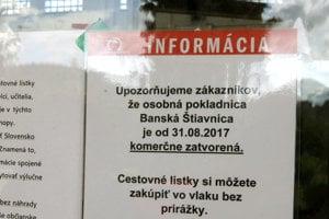 Lístky si na stanici nekúpite už od septembra minulého roka.