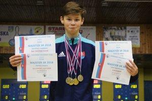 Erik Kuráň vyhral na majstrovstvách Slovenska v kolkoch štyri zlaté medaily.