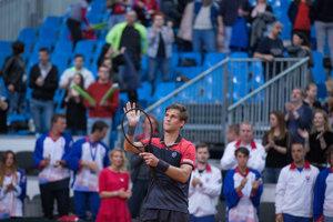 Martin Kližan ďakuje fanúšikom.