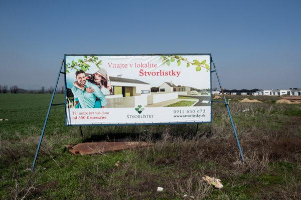 Projekt Štvorlístky, v ktorom Druckerovej firma Logaro výhodne kúpila 26 pozemkov. Jej manžel tvrdí, že ich medzičasom predala a s podnikaním skončila.
