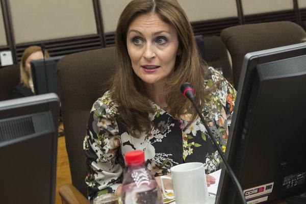 Ministerka Andera Kalavská.