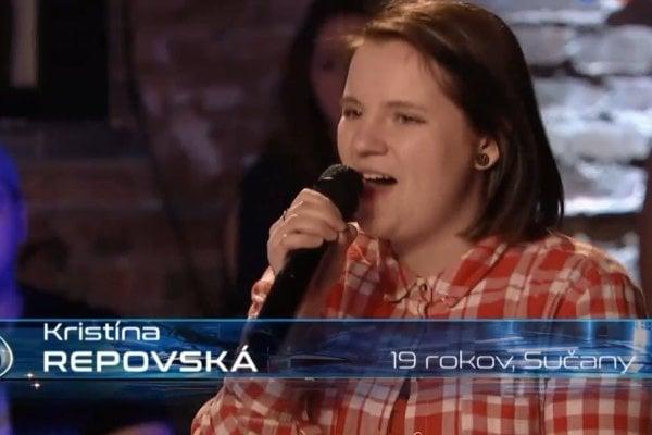 Kristína Repovská sa prebojovala do top 40-ky najlepších spevákov.