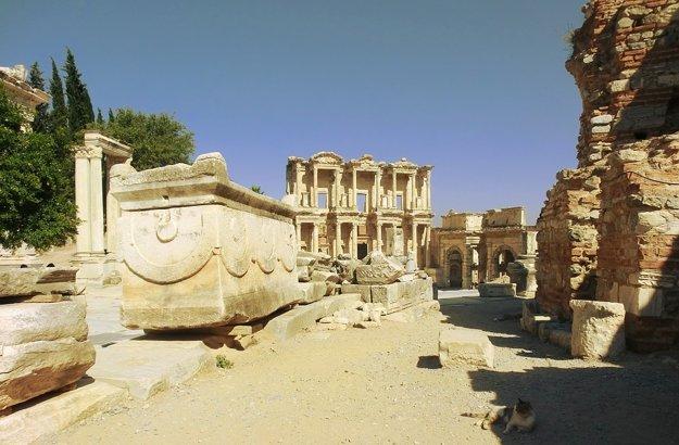 Rímske ruiny mesta Efezus.
