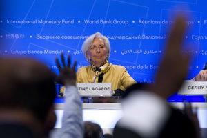 Šéfka Medzinárodného menového fondu (MMF) Christine Lagardeová.