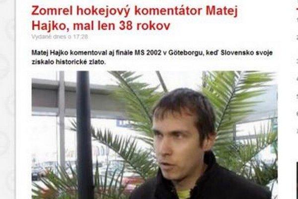 Nepravdivú informáciu prebralo od TASR aj sme.sk.