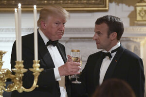 Trump a Macron.