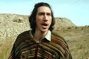 Adam Driver vo filme Muž, ktorý zabil Dona Quijota.