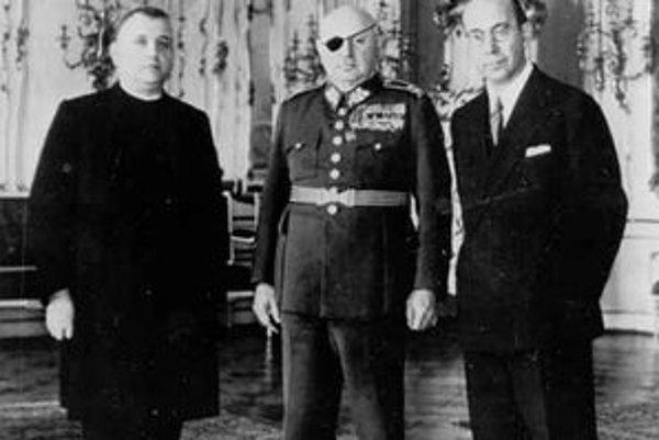 Jozef Tiso na Pražskom hrade 6. 10. 1938.