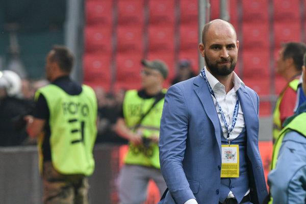Viceprezident a generálny riaditeľ ŠK Slovan Bratislava Ivan Kmotrík ml. bol počas finále aj v sektore fannúšikov.