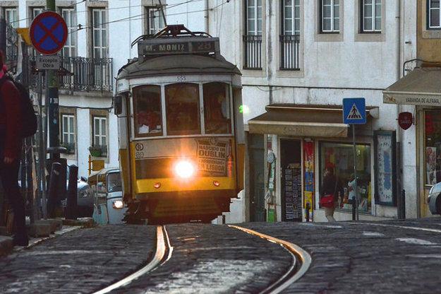 Električka 28 v Lisabone.