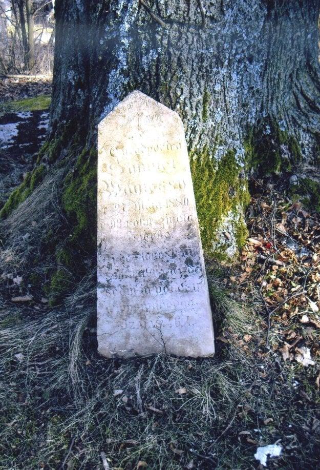 Hrob jedného z trnovských knihárov. Na osamelom pomníku na trnovskom cintoríne je napísané: Tu odpočíva Samuel Wamossi, + 27. mája 1880 v 93. roku života svého.