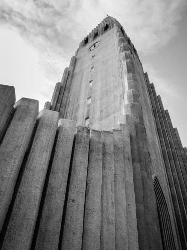 Kostol Hallgrímskirkja v Reykjavíku.