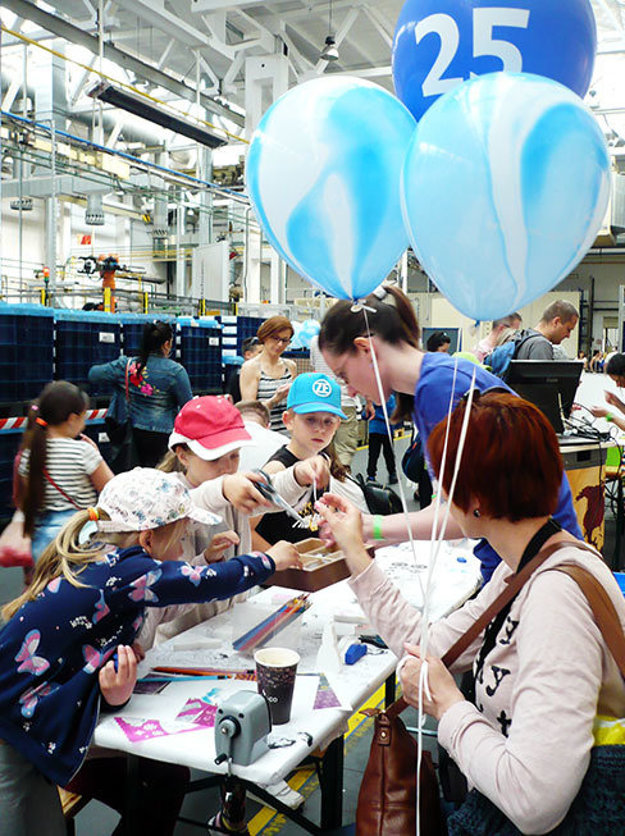 Vo výrobných halách deti zaujali tvorivé dielne.