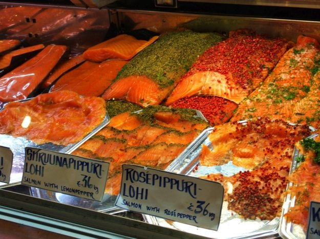 Miestne trhovisko v Helsinkách