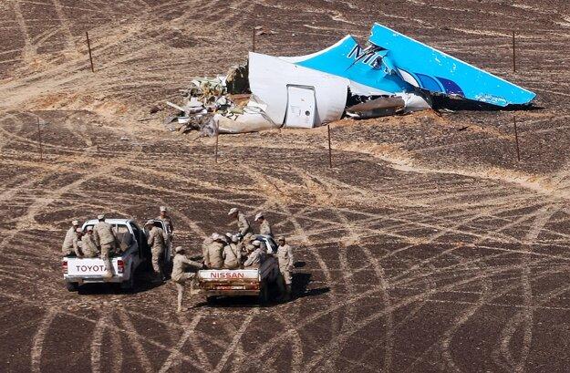 Trosky ruského lietadla.