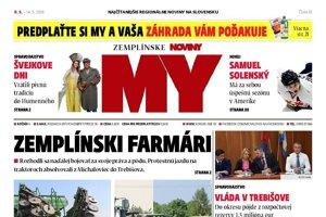 Titulná strana týždenníka MY Zemplínske noviny č. 18/2018.