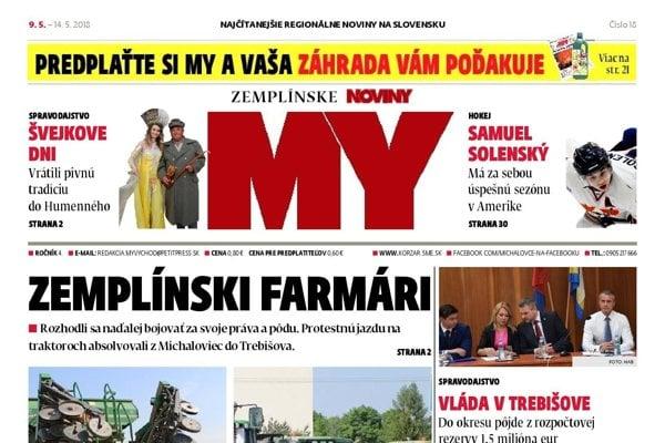 d9acb9a97 MY Zemplínske noviny píšu o farmárskych protestoch i pivnom ...
