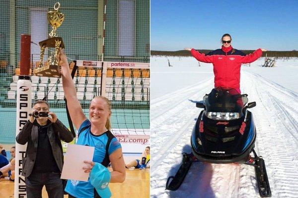 Martina Konečná sa tešila z bronzu žien UKF Nitra. Po sezóne zvykne relaxovať za polárnym kruhom na snežnom skútri.