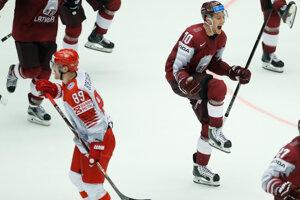 Hokejisti Lotyšska sa radovali z postupu.