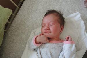 Lucia Suchovská (3500g, 52cm) sa narodila 6. mája Monike a Jánovi z Brezovej pod Bradlom. Na sestričku sa teší Laura (7).