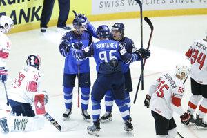 Gólová radosť hokejistov Fínska.