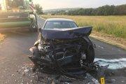 Auto sudcu, z ktorého vyšiel bez vonkajších zranení.