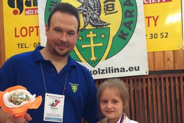 Stellka s trénerom Ľubošom Cigánokom.