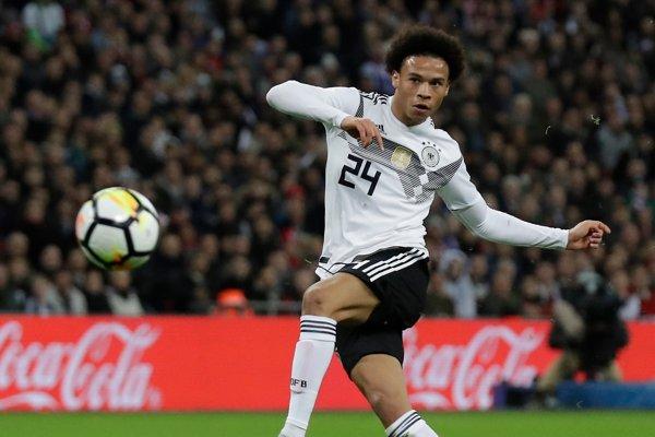 Leroy Sané prekvapujúco chýba v záverečnej nominácii Nemecka na MS vo futbale 2018.