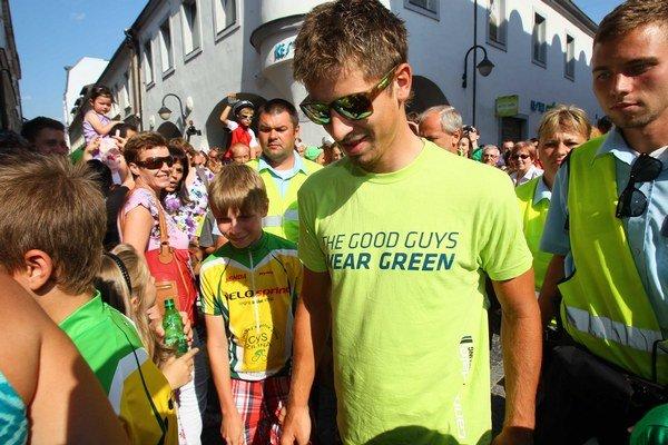 Peter Sagan na námestí v Žiline.