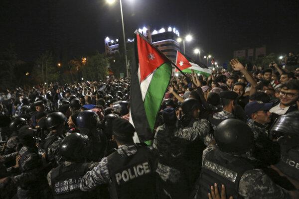 Protesty v jordánskom Ammáne.