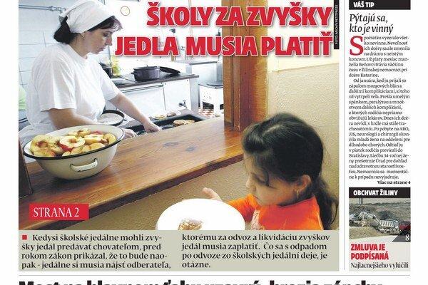 Aktuálne vydanie týždenníka MY Žilinské noviny nájdete v stánkoch už v pondelok.