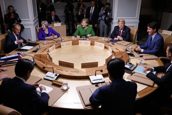 Skupina G7 zasadá.