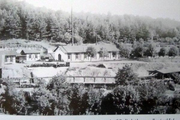 Areál badínskej bane v minulosti.