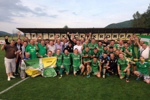 Radosť Lipian po víťazstve v Krompachoch a spečatení triumfu v tretej lige bola obrovská.