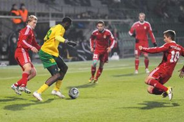 Momodou Ceesay mal niekoľko dobrých príležitostí, gól však Bystrici nestrelil.