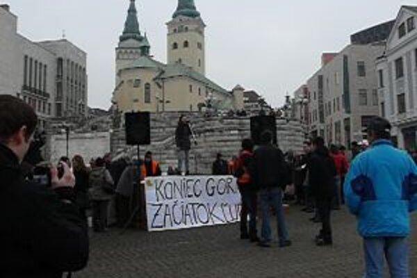 Protest Gorila v Žiline, časť druhá.