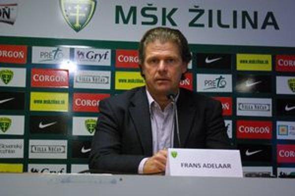 Nový tréner MŠK Žilina, Holanďan Frans Adelaar.