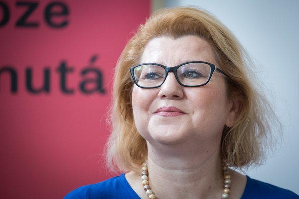 Kandidátka na post starostky mestskej časti Bratislava–Ružinov Jana Poláčiková.
